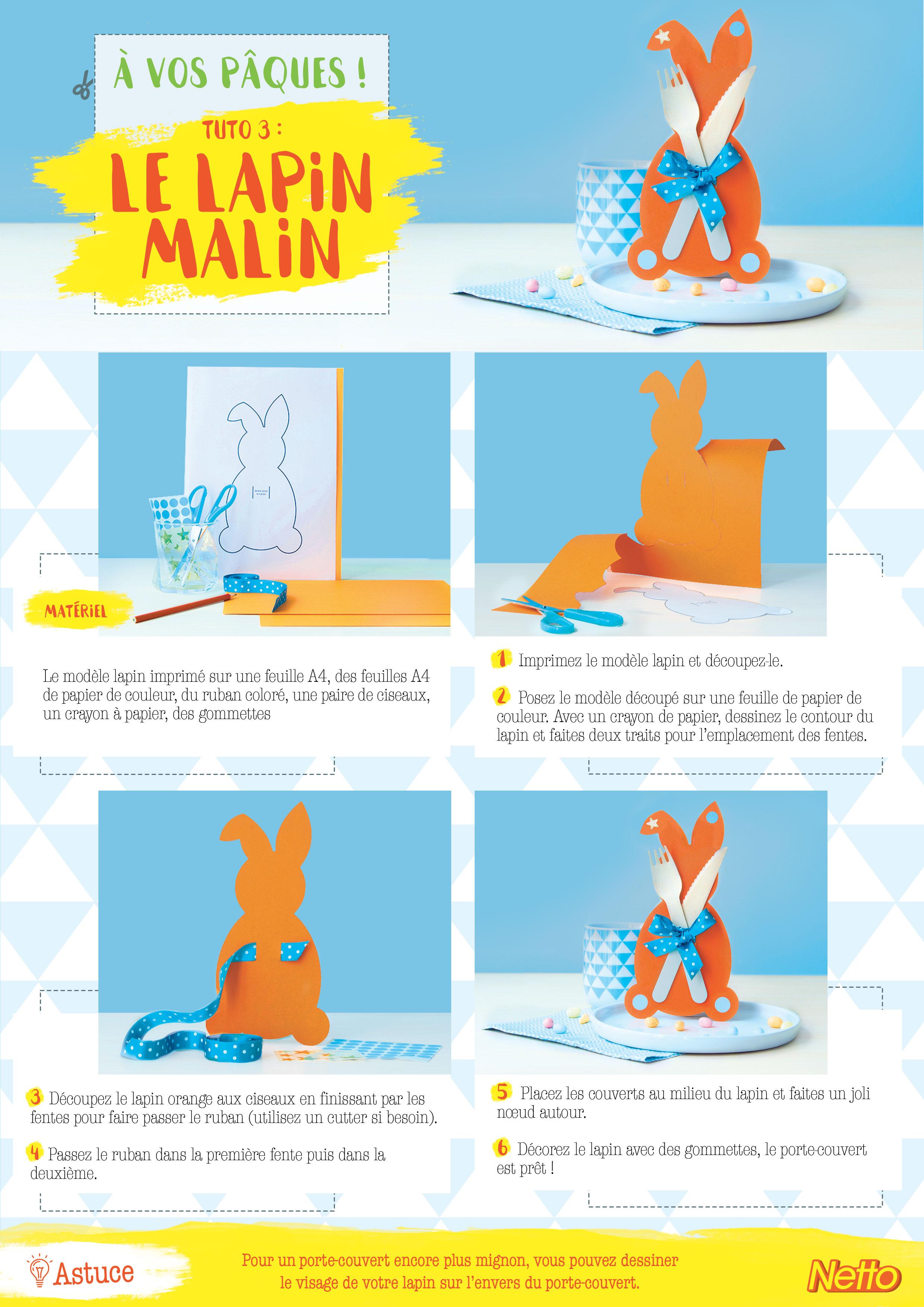 Tuto 3 : Le lapin porte-couvert
