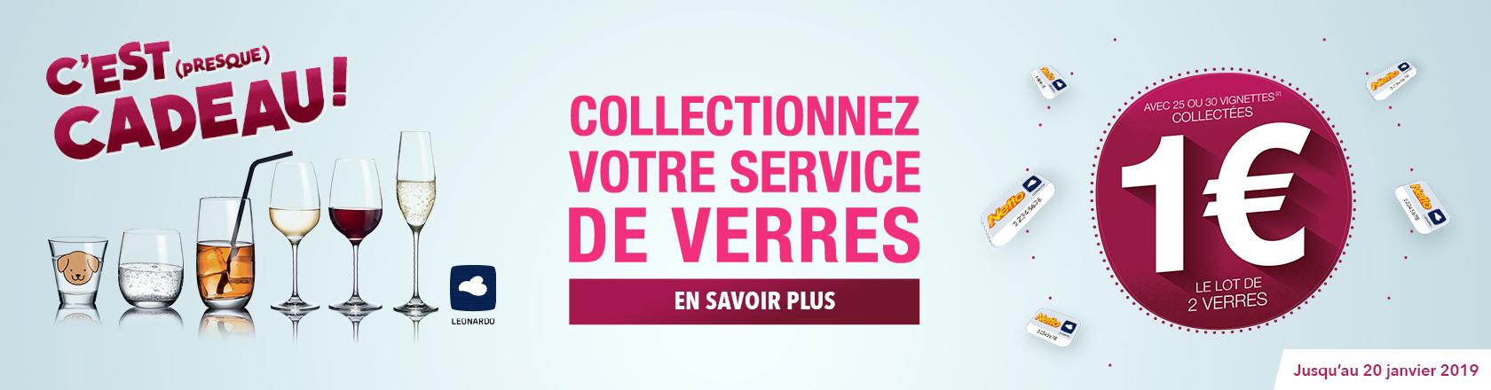 Collectionnez votre service de verres - Du 4 Septembre au 24 Décembre