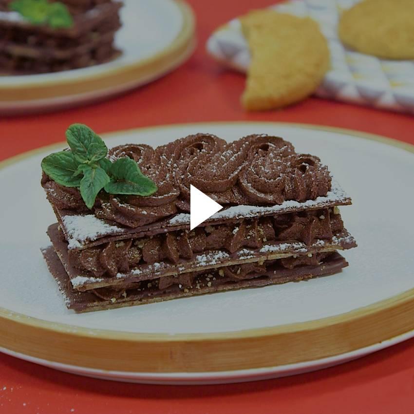 Mille-feuille croustillant au chocolat