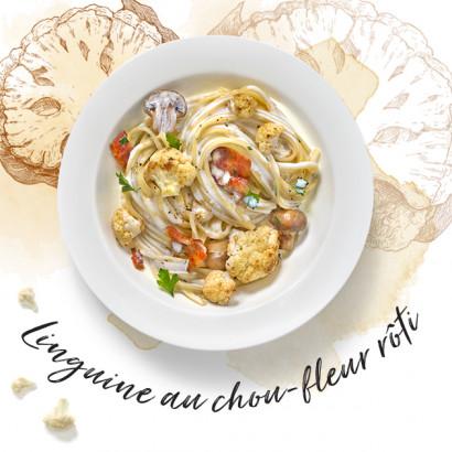 Linguine aux choux-fleur rôti