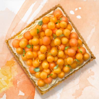 tarte au melon et mascarpone