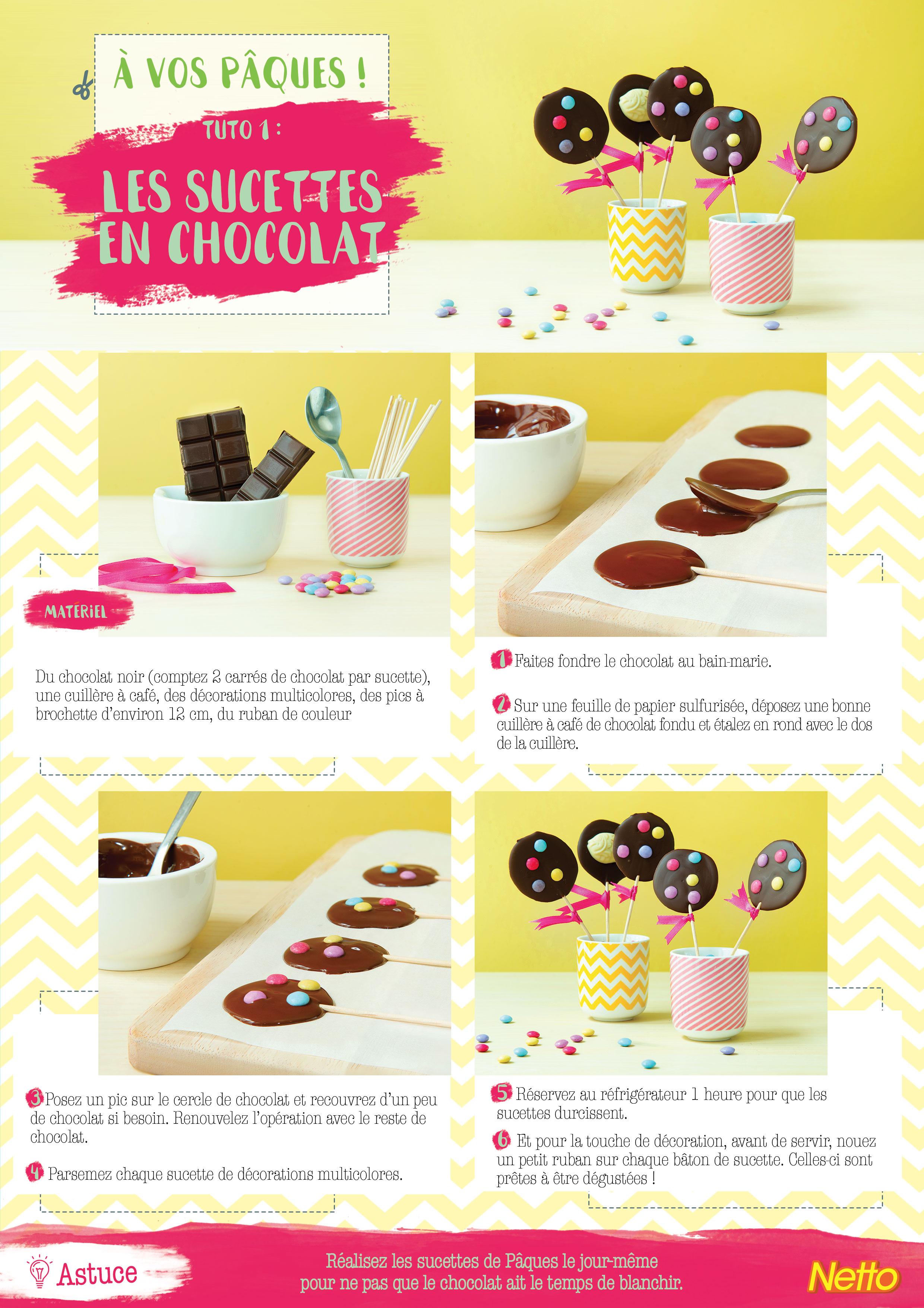 Tuto 1: Les sucettes en chocolat